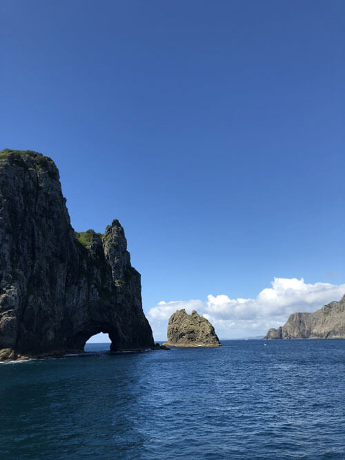 "Das ""Hole in the Rocks"" in der Bay of Islands"