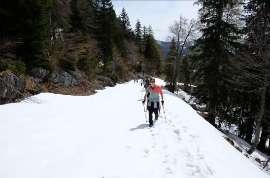 Schnee und Sonne: Schneefelder mussten auf beiden Touren mehrfach passiert werden.