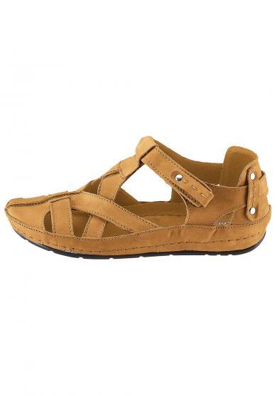 new concept d615d 8a146 Leder-Sandale mit Klettverschluss