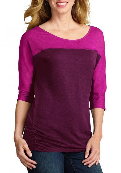 T-Shirt mit 3/4-Arm Damen