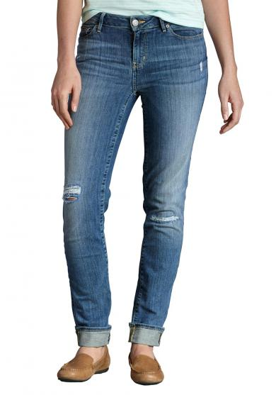 Slim Leg Jeans im Destroyed-Look