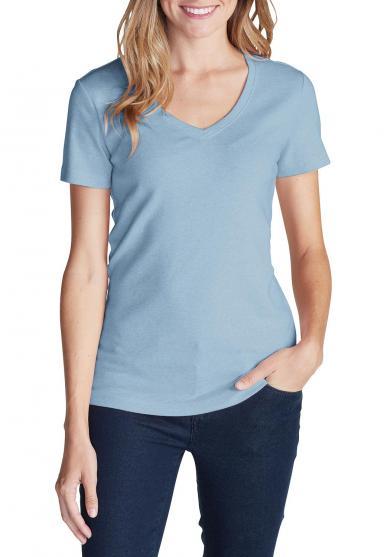 Basic-Shirt mit V-Ausschnitt Damen