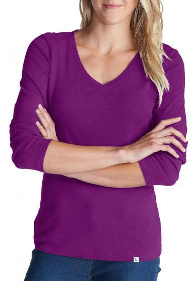 Shirt mit 3/4-Arm und V-Ausschnitt Damen