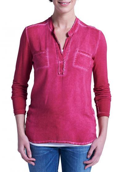 Shirtbluse im Materialmix