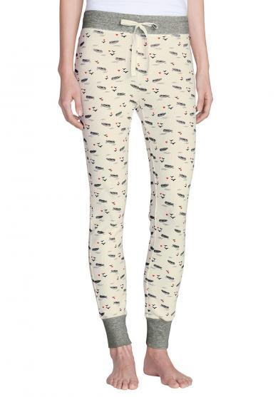 Pyjamahose in Waffeloptik - bedruckt