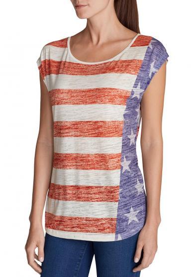 T-Shirt bedruckt Flagge Damen