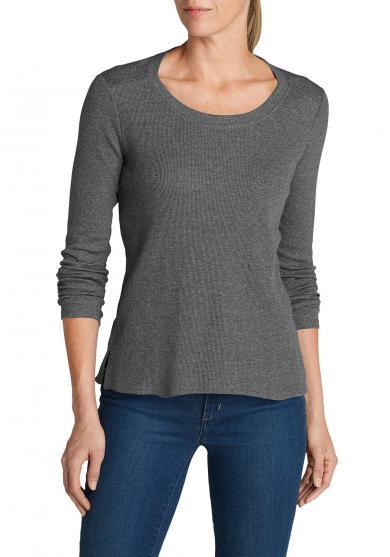Stine's Favorite Waffel-Shirt - Rundhalsausschnitt - Uni Damen