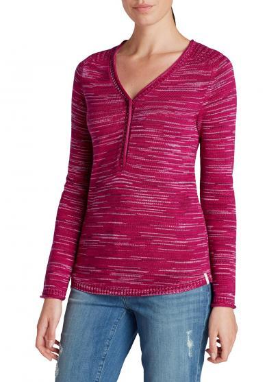 Henley-Pullover gemustert