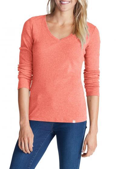 Favorite Shirt - Langarm mit V-Ausschnitt Damen