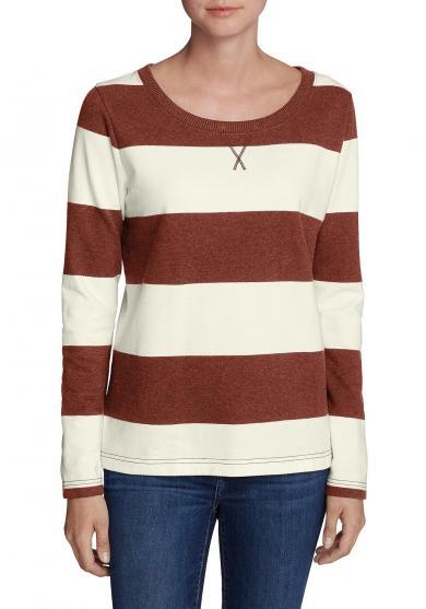 Legend Wash Sweatshirt mit Rugby-Streifen