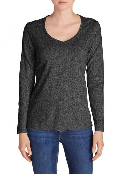 Essential Slub Shirt - Langarm mit V-Ausschnitt