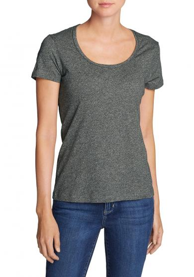 Essential Slub Shirt - Kurzarm mit Rundhalsausschnitt Damen