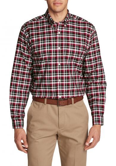 Knitterarmes Oxfordhemd - Langarm - gemustert Herren