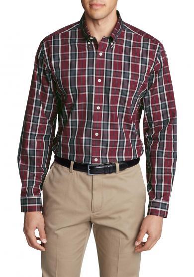 Knitterarmes Pinpoint - Oxfordhemd - Langarm - Relaxed Fit - gemustert Herren