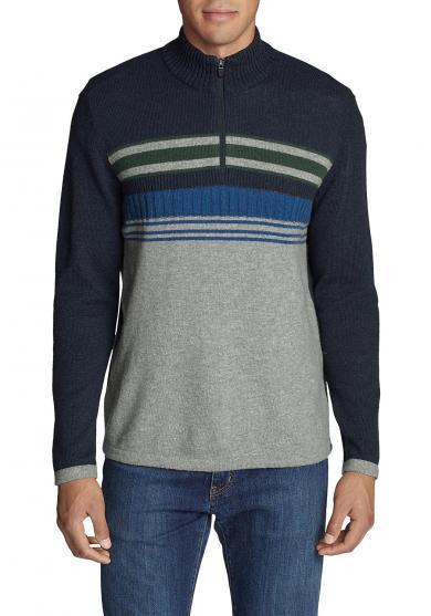 Sidecut Pullover mit 1/4-Reißverschluss Herren