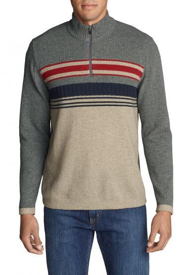 Sidecut Pullover mit 1/4-Reißverschluss