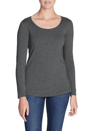 Shirt mit Rundhalsausschnitt - Langarm Damen