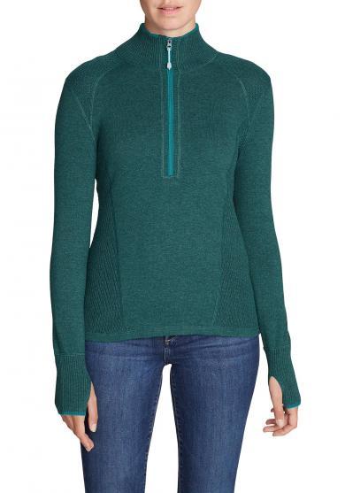 Engage Pullover mit 1/4-Reissverschluss - Uni Damen
