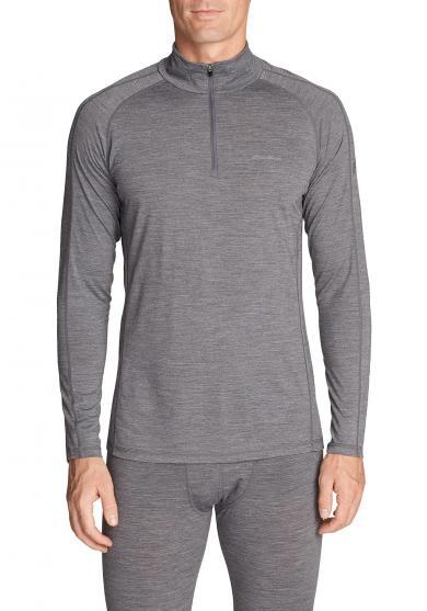 Merino Hybrid Shirt mit 1/4-Reissverschluss - Midweight Herren