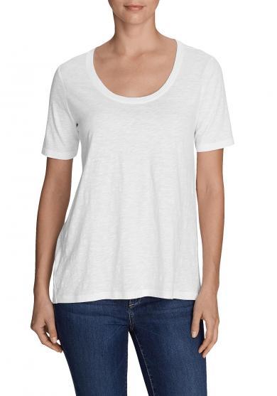 Legend Wash Slub-Shirt - Longshirt - Kurzarm mit Rundhalsausschnitt