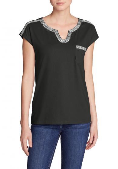 Rosario Beach T-Shirt mit Tasche Damen