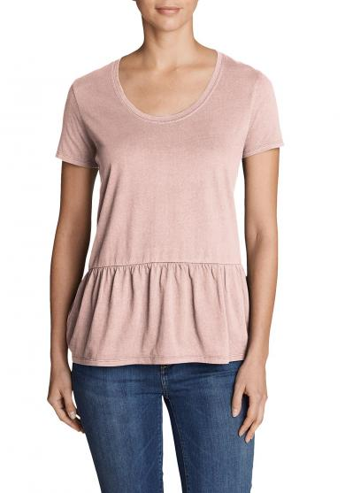 Gypsum T-Shirt Peplum - Uni Damen