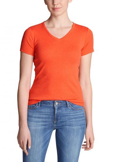 Favorite Shirt - Kurzarm mit V-Ausschnitt Damen