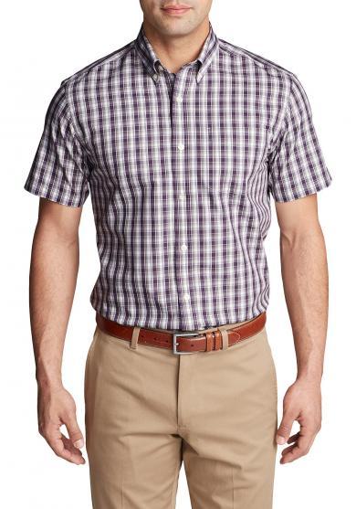 Knitterarmes Pinpoint-Oxfordhemd - Kurzarm - Classic Fit - gemustert