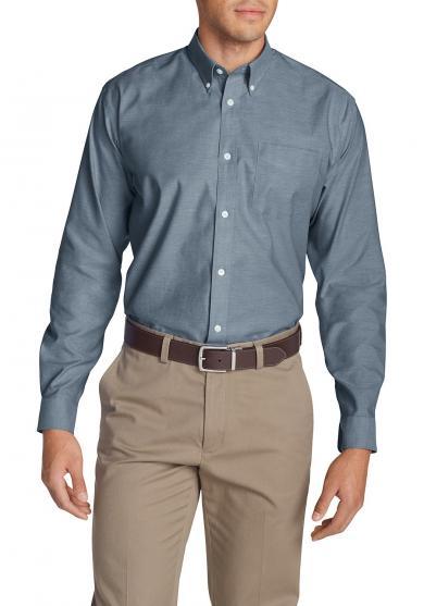 Knitterarmes Oxfordhemd - Langarm - uni