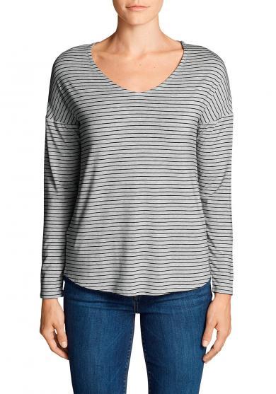 Celestial Shirt - V-Ausschnitt - Langarm - geringelt Damen