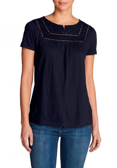 Lola Shirt mit Y-Ausschnitt - Kurzarm