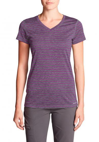 Resolution T-Shirt mit V-Ausschnitt - Geringelt Damen
