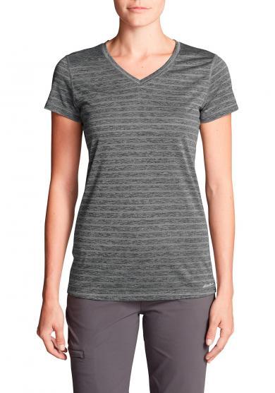 Resolution T-Shirt mit V-Ausschnitt - Geringelt