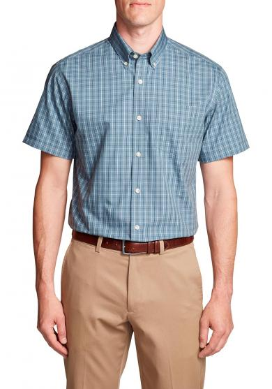 Knitterarmes Pinpoint - Oxfordhemd - Kurzarm - Relaxed Fit - Blautöne