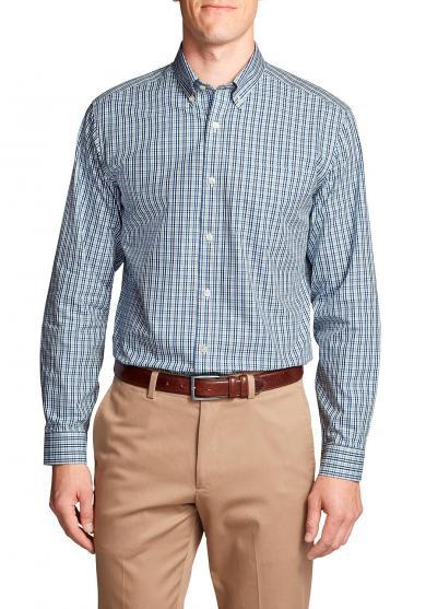 Knitterarmes Pinpoint Oxfordhemd - Langarm - Relaxed Fit - Blautöne Herren
