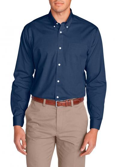 Knitterarmes Pinpoint - Oxfordhemd - Langarm - Classic Fit - uni