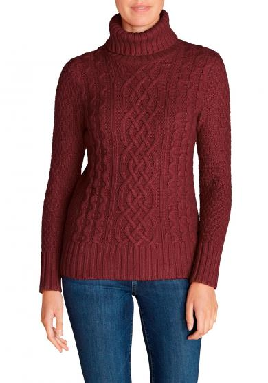 Cable Fable Pullover mit Rollkragen