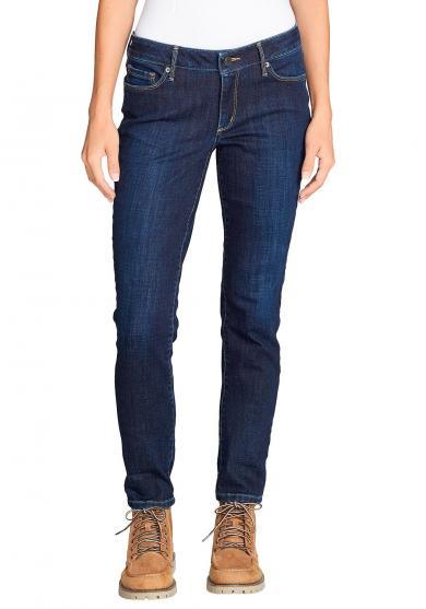 Stayshape Slim Straight Jeans - angeraute Innenseite Damen
