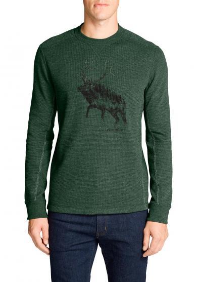 Waffelshirt - Elk Forest
