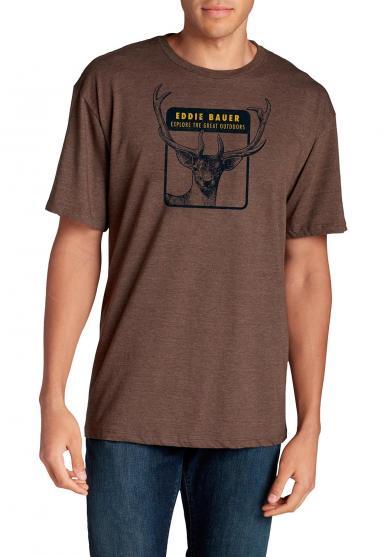 T-Shirt mit Logoprint Antler