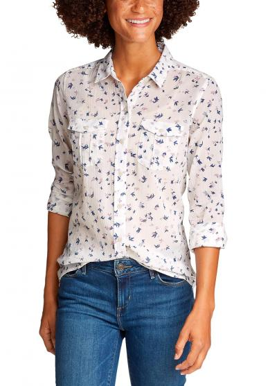Packbare Bluse Langarm - bedruckt