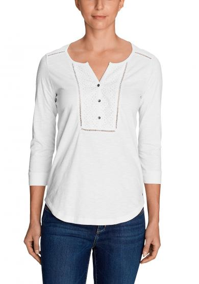 Lola 3/4-Arm Henley Damen