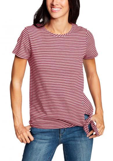 Gatecheck Side Tie T-Shirt - Gestreift