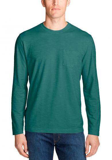 Legend Wash Slub-Shirt - Langarm mit Tasche Herren