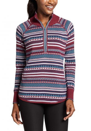 Engage Pullover mit 1/4-Reissverschluss - Fairisle Damen