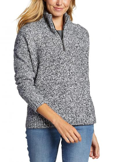 FIRST LIGHT Pullover mit 1/4-Reissverschluss Damen