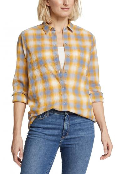 Packbare Bluse Langarm - Boyfriend Damen
