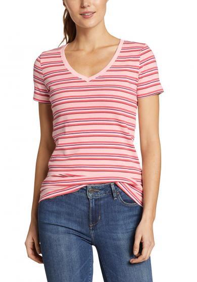 Favorite Shirt - Kurzarm mit V-Ausschnitt - Geringelt
