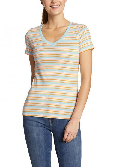 Favorite Shirt - Kurzarm mit V-Ausschnitt - Geringelt Damen