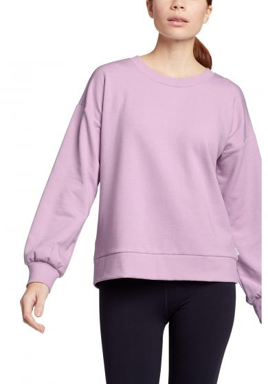 Cozy Camp Fleece Sweatshirt mit Tulpenärmel Damen